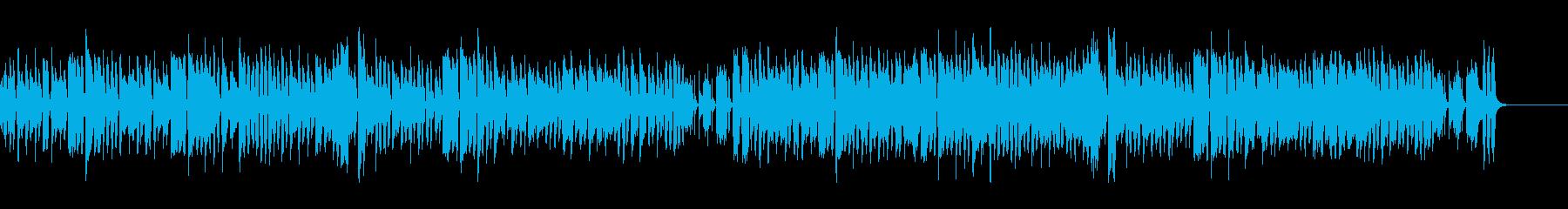 気の抜けた、調子のはずれたリコーダーの曲の再生済みの波形