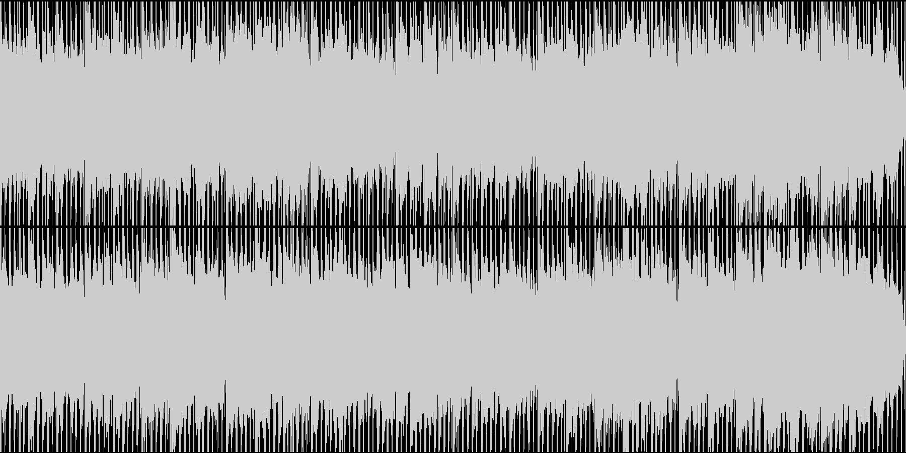ドキュメンタリーやさしい曲2 ハウス風の未再生の波形