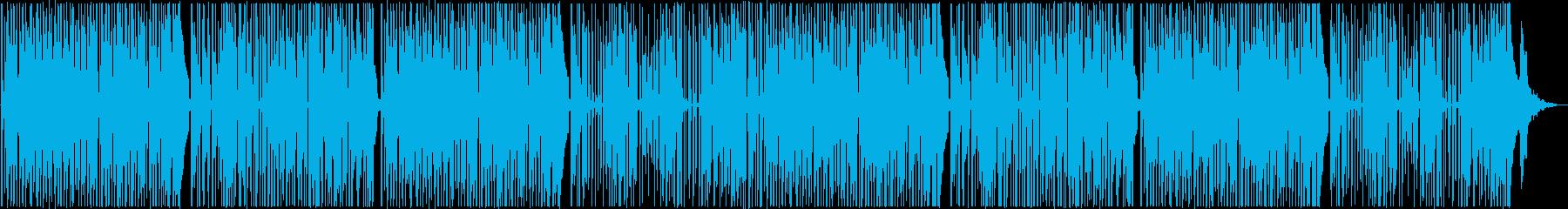 レゲエ調のヒップホップトラックの再生済みの波形