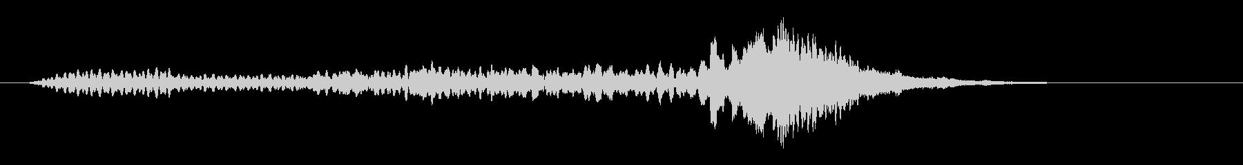 シンセとエレピのサウンドロゴの未再生の波形