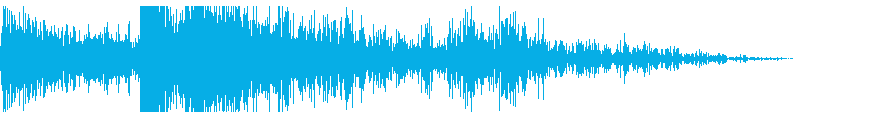 重い複数の爆発衝撃爆風の再生済みの波形