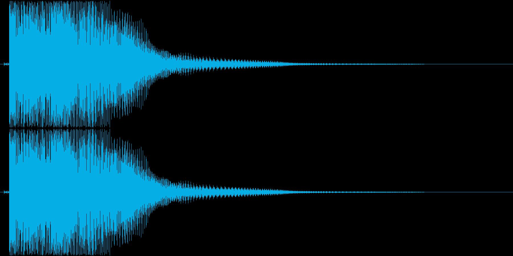 ダメージ音(ポヨン)の再生済みの波形