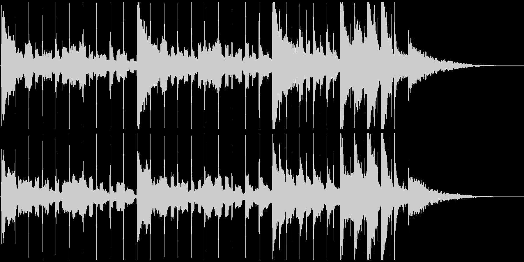 カウントダウン数え易くドラマチック30秒の未再生の波形