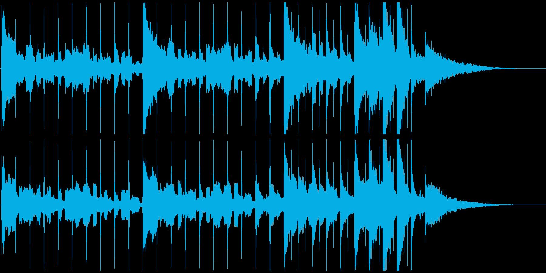 カウントダウン数え易くドラマチック30秒の再生済みの波形