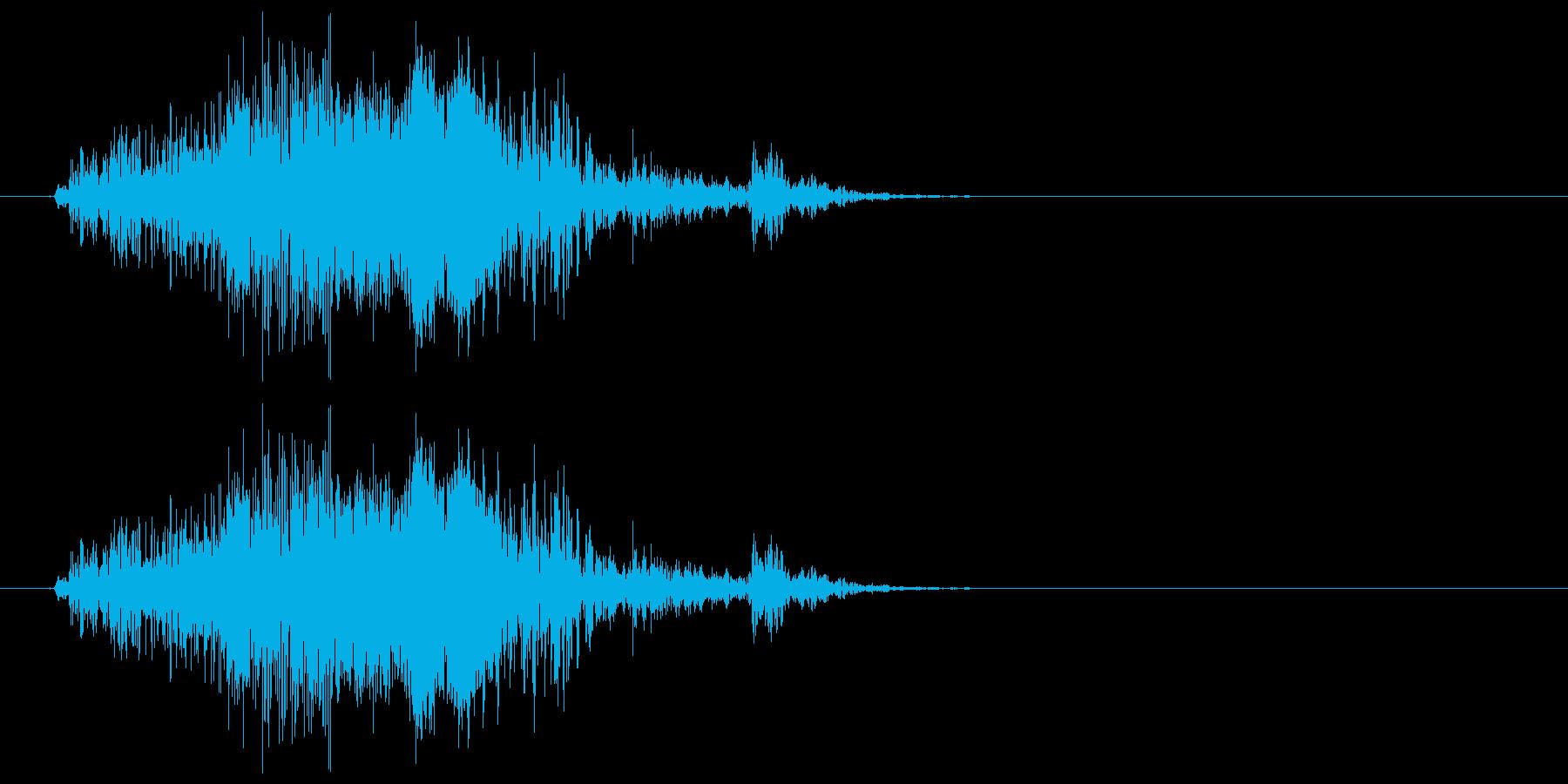 チャックの開け閉め音の再生済みの波形