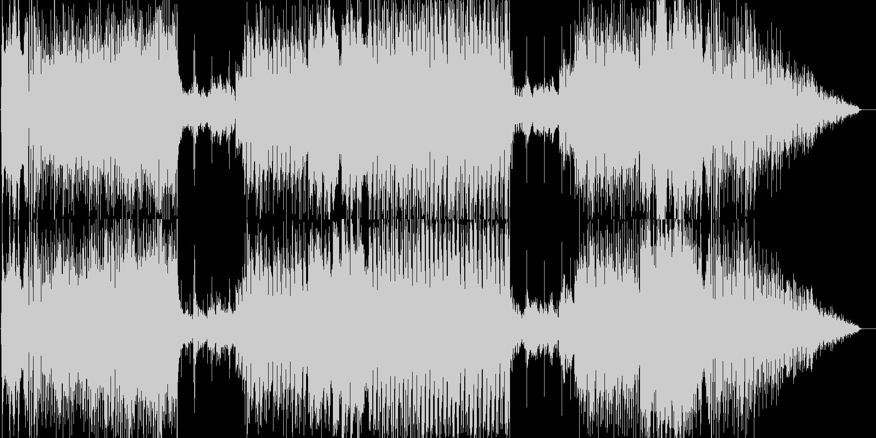 ラテン風爽やかめBGMの未再生の波形
