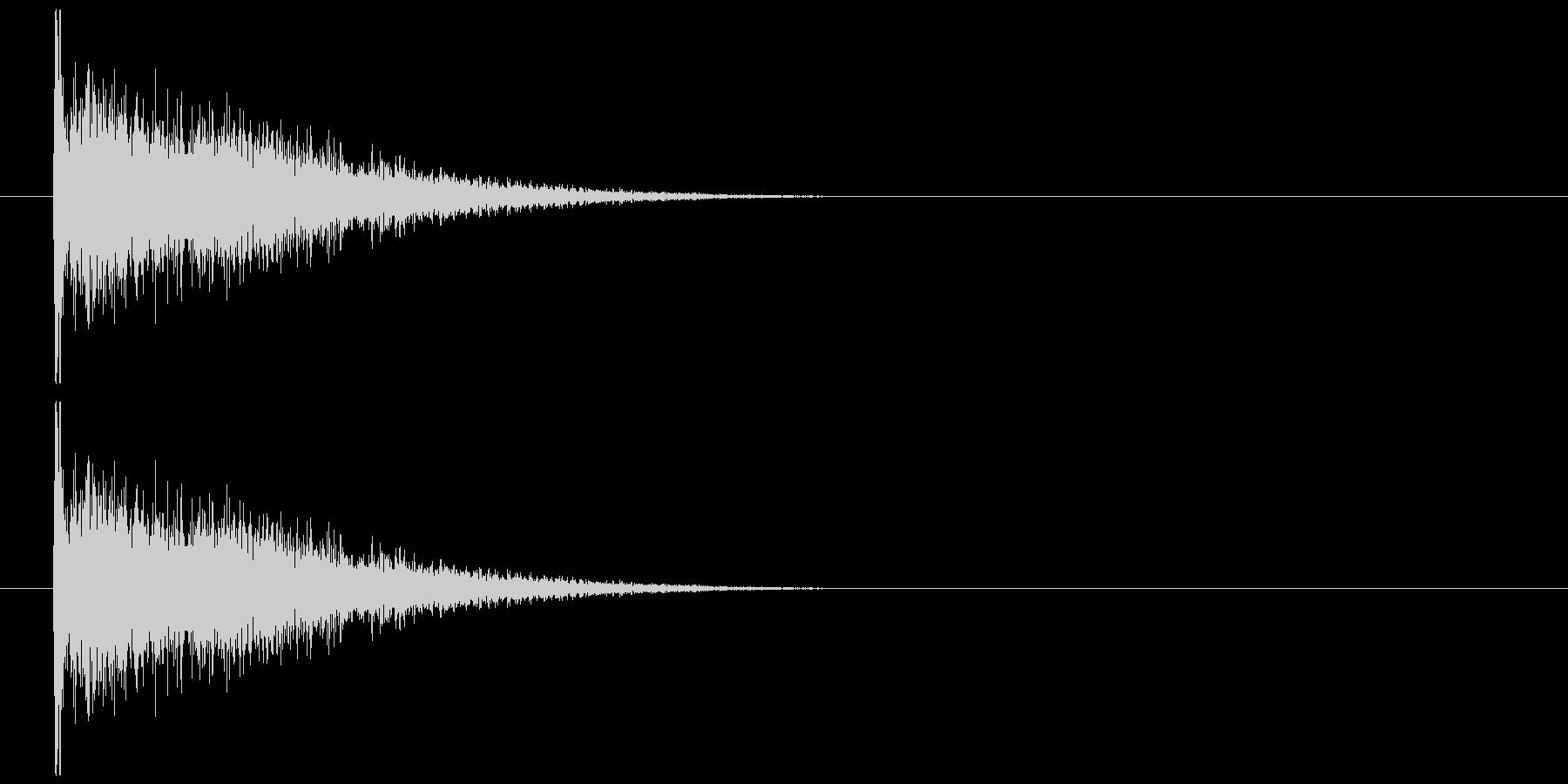 物が落ちる音 17の未再生の波形