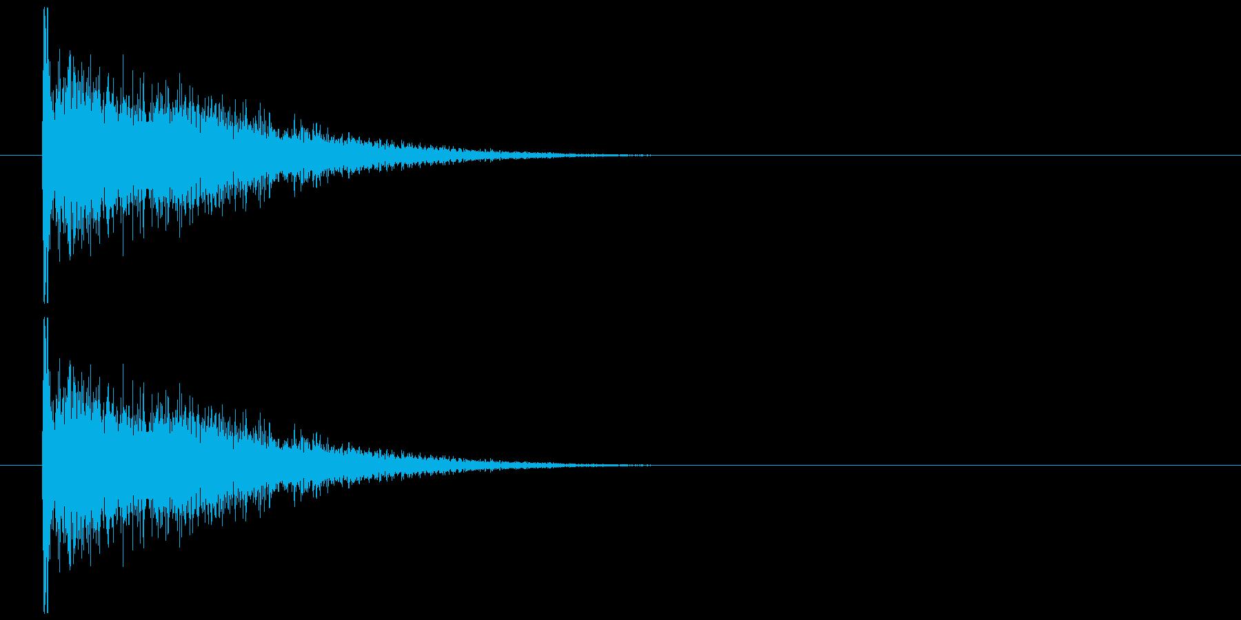 物が落ちる音 17の再生済みの波形