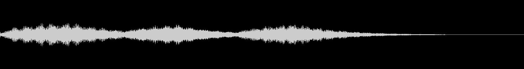 ホラー用のゴングの未再生の波形