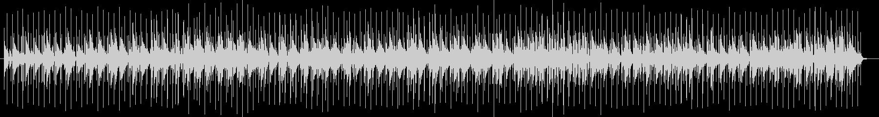 ドラムとピアノの軽やかなBGMの未再生の波形