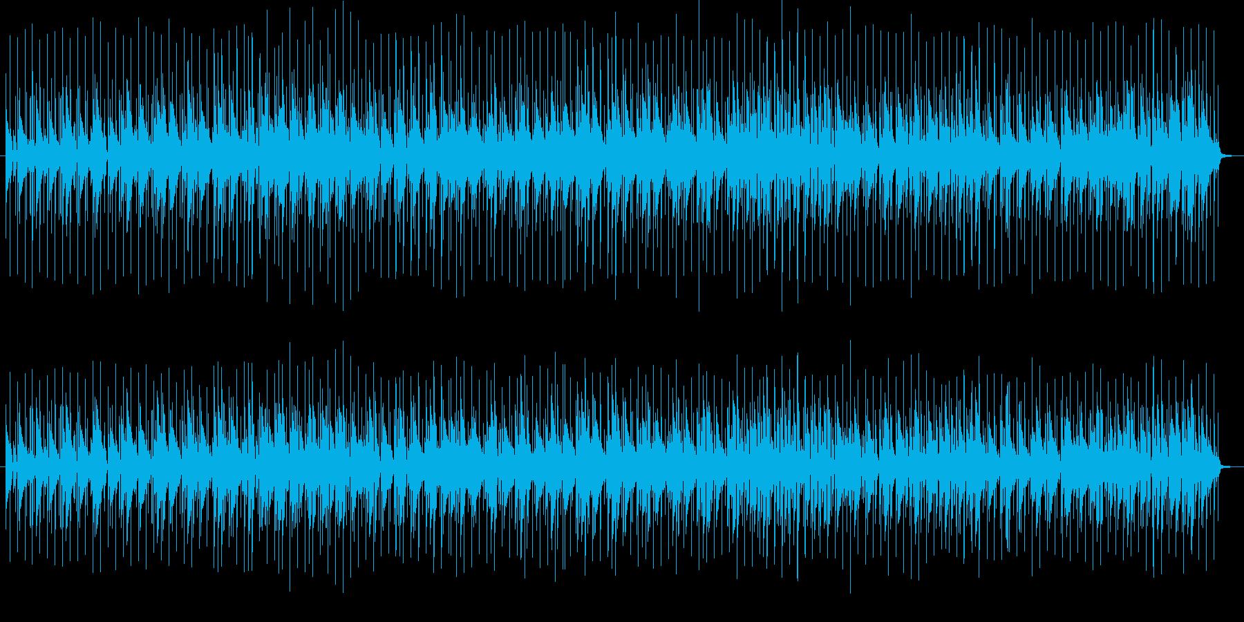 ドラムとピアノの軽やかなBGMの再生済みの波形
