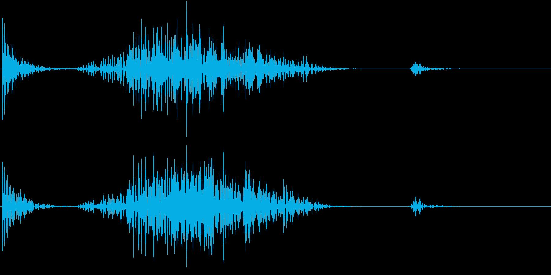 【生録音】テーブルを引っ掻く音 4の再生済みの波形
