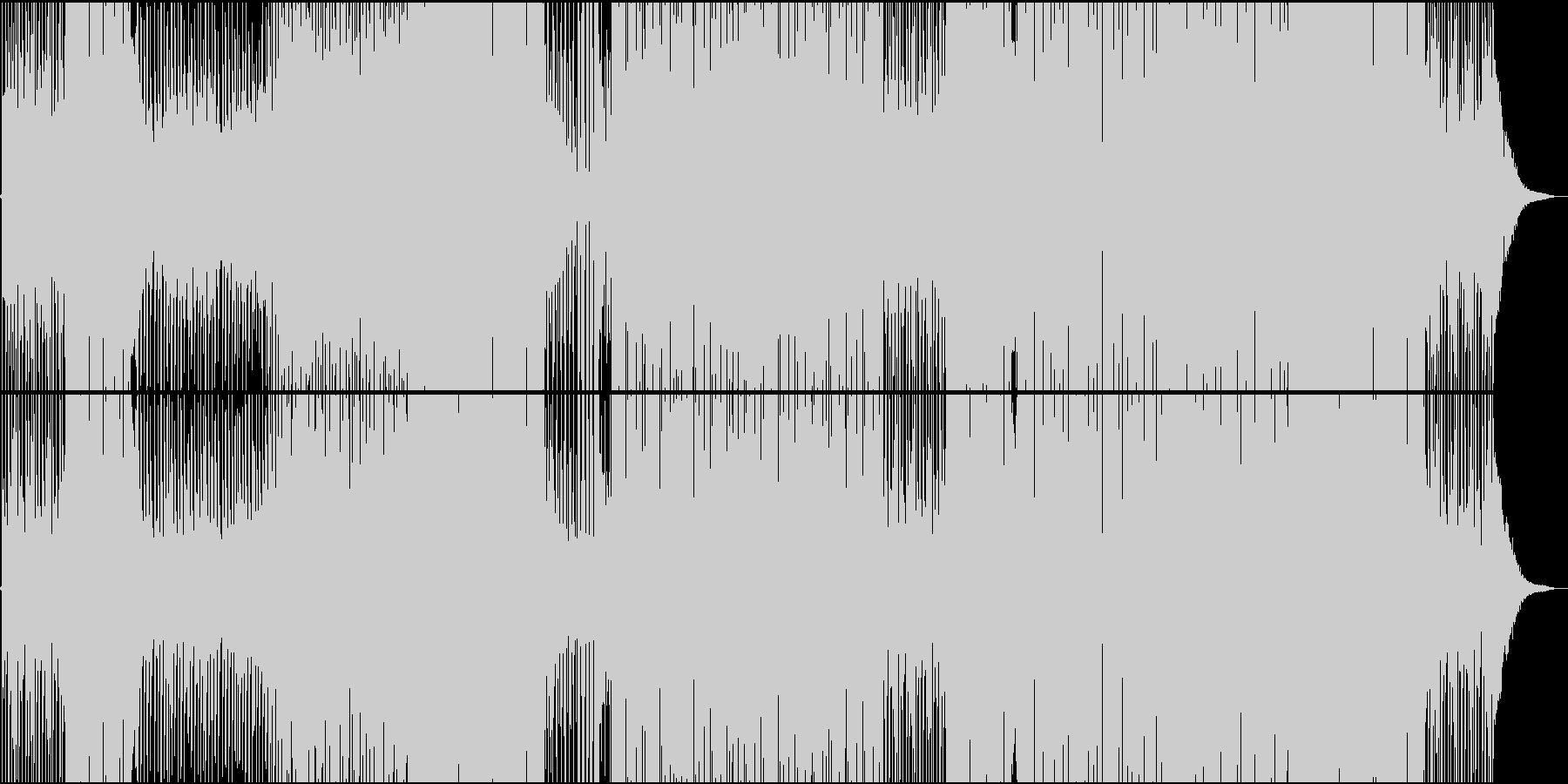 和楽器で奏でるレガトンエスニックトラックの未再生の波形