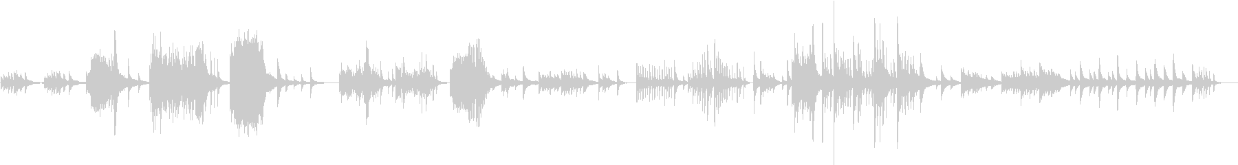 心の葛藤をドラマティックに演出するピアノの未再生の波形
