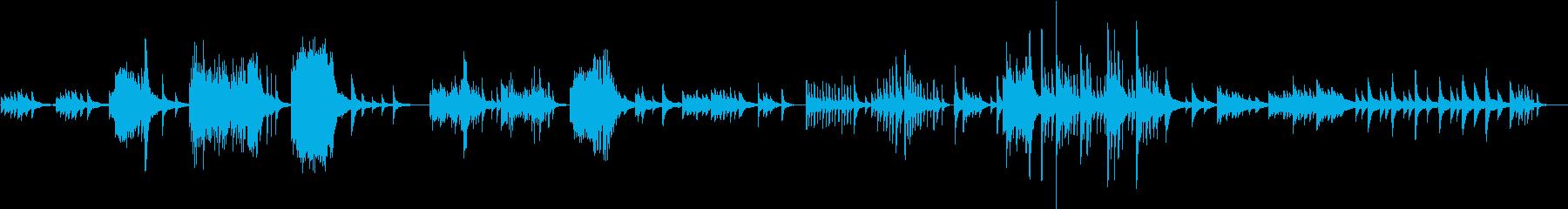 心の葛藤をドラマティックに演出するピアノの再生済みの波形