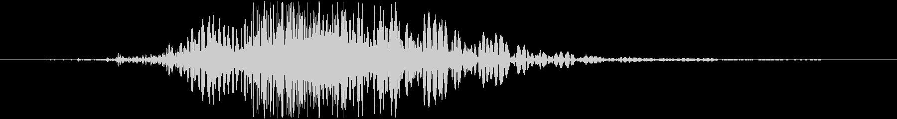 斬撃 ファイヤーノイズブラストラージ02の未再生の波形