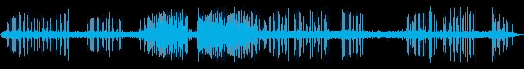 カエルの鳴き声-3の再生済みの波形