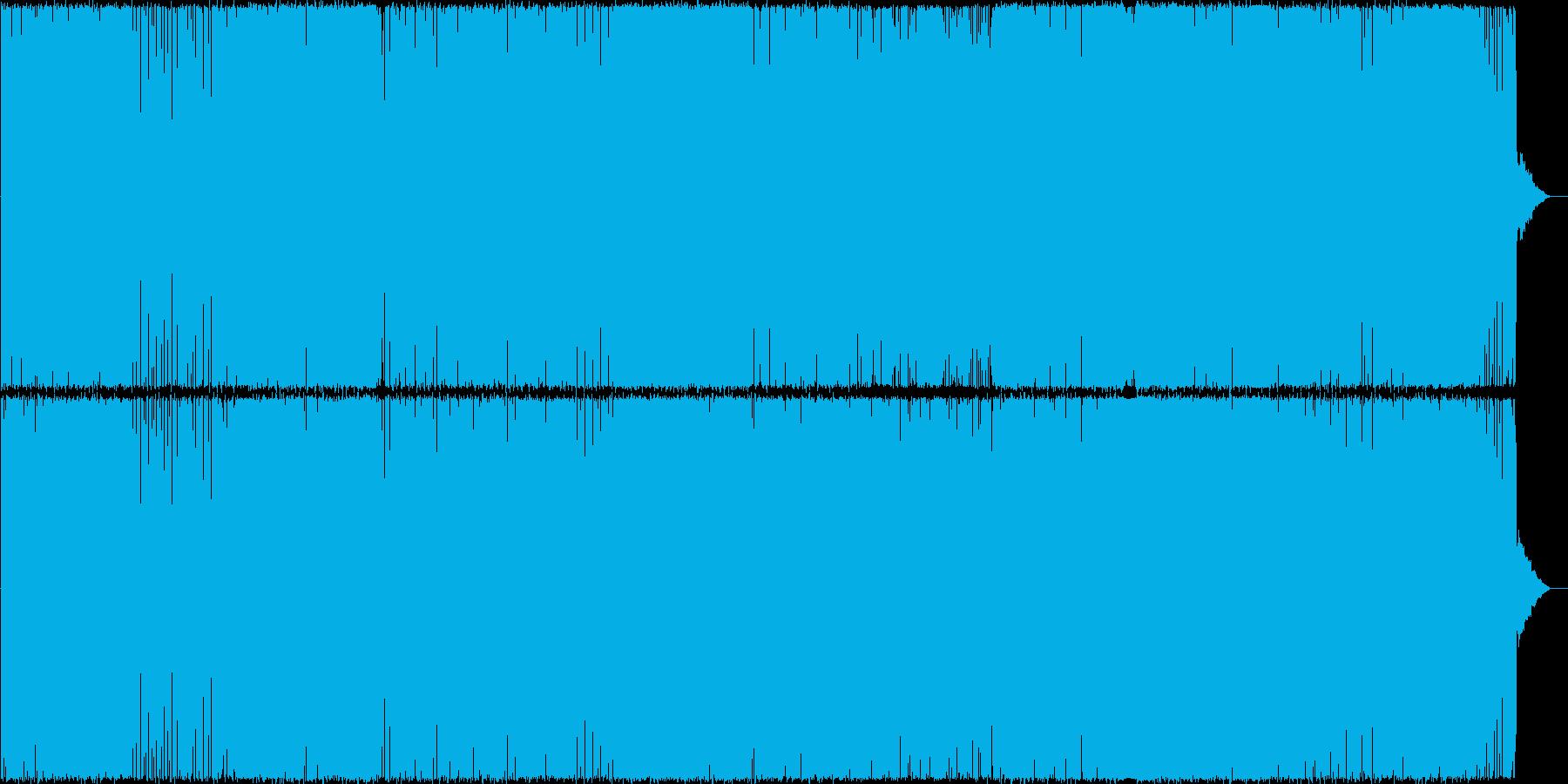 疾走感のある女性ボーカルテクノ(Dnb)の再生済みの波形