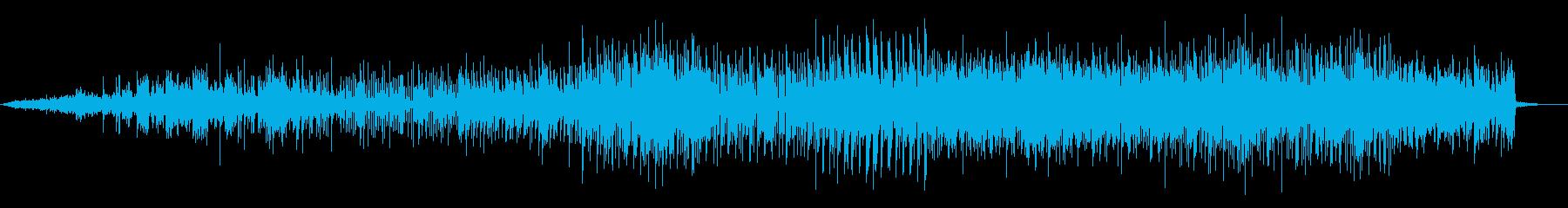 デジタルでシンプルなシネマシンセビートの再生済みの波形