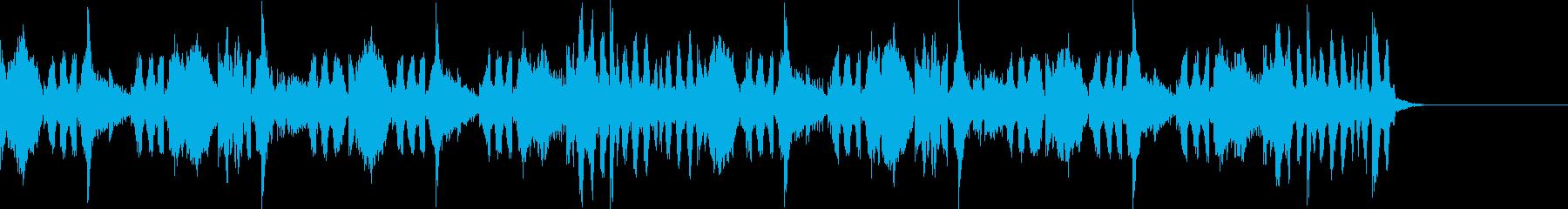 ダブステップ風のジングルの再生済みの波形