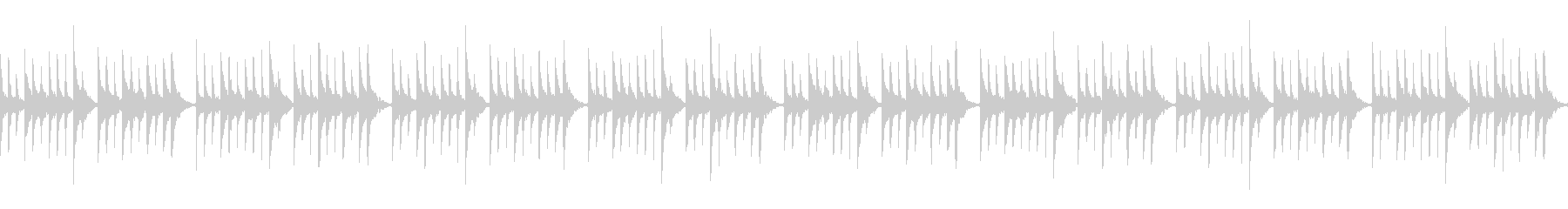オルゴールとピアノの睡眠導入系BGMの未再生の波形