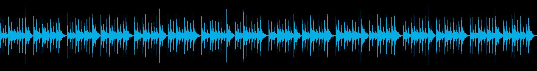 オルゴールとピアノの睡眠導入系BGMの再生済みの波形