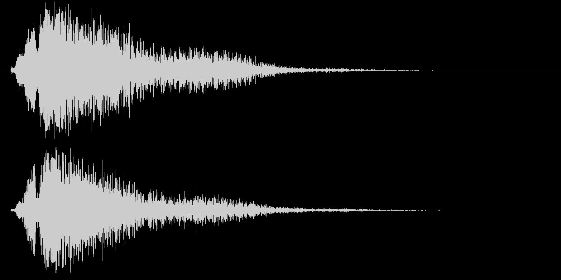 爆弾爆発タイプ2の未再生の波形