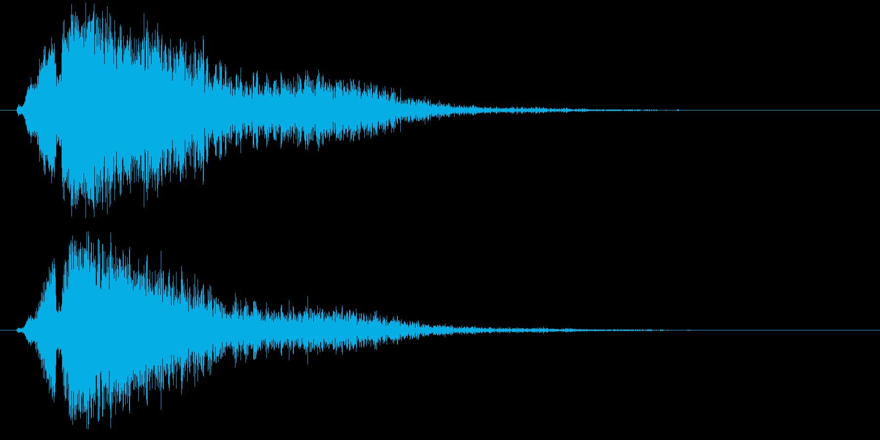爆弾爆発タイプ2の再生済みの波形