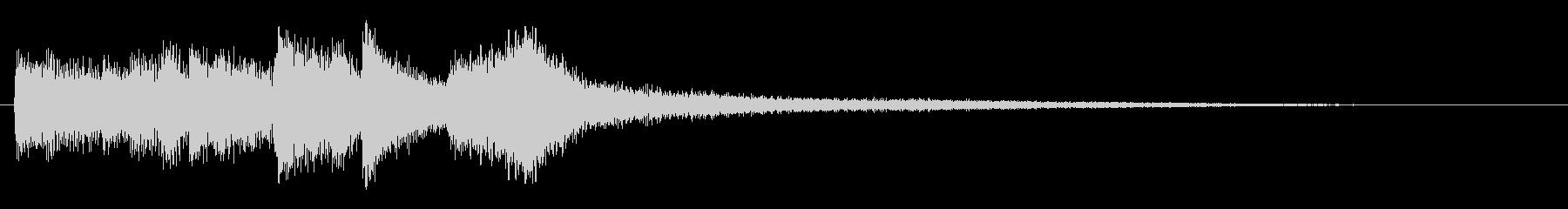 幻想的なピアノソロのジングルの未再生の波形