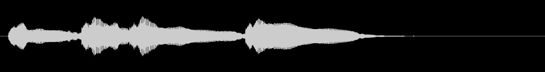 生音エレキギター3弦チューニング3エコーの未再生の波形
