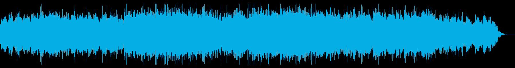 陰鬱なホラーアンビエントの再生済みの波形