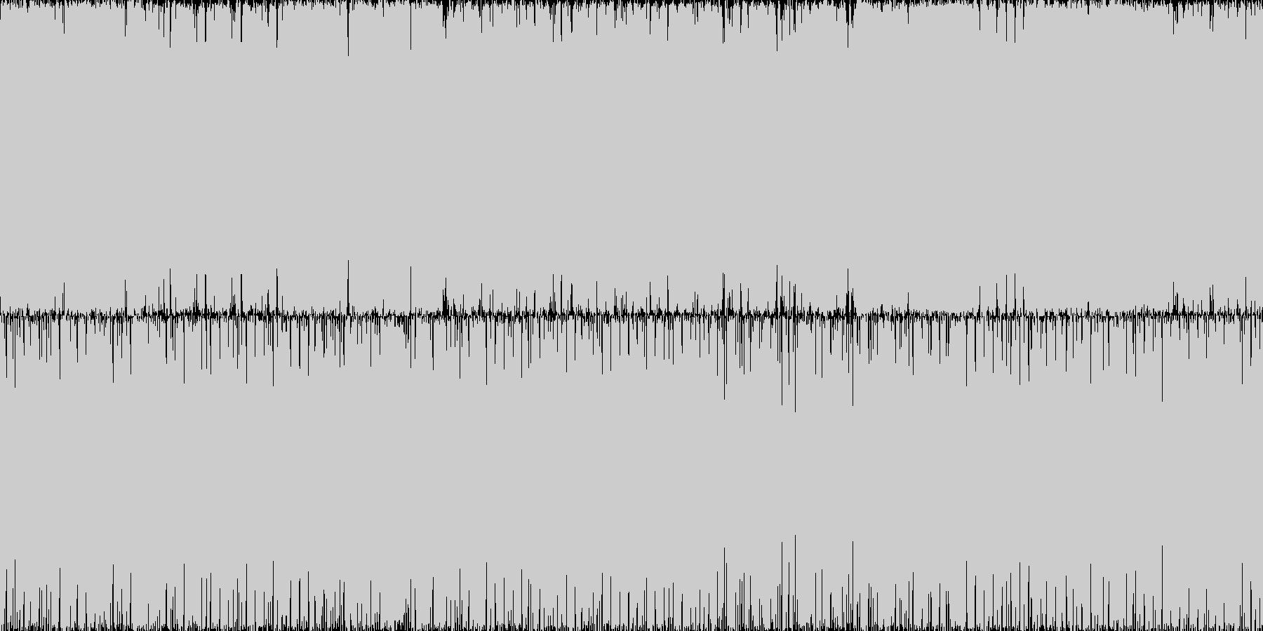 重低音を効かせたダンスミュージックです。の未再生の波形