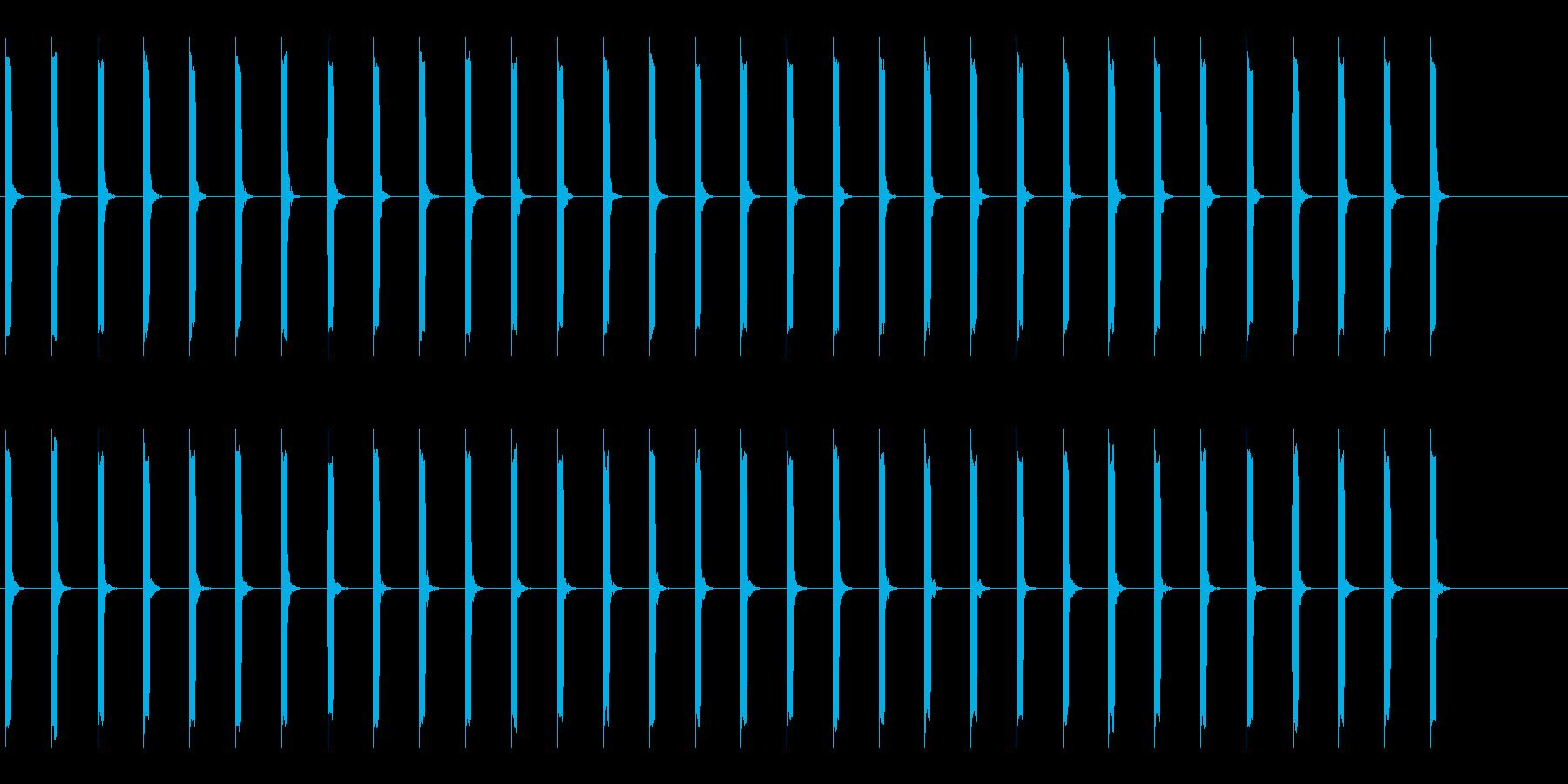 心電図の音-2-2(BPM50)の再生済みの波形