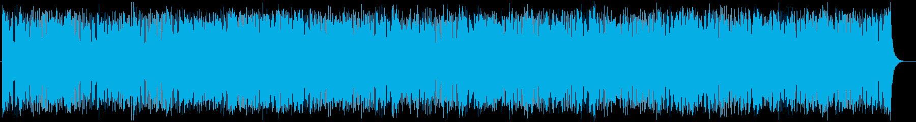 激しく疾走感のあるシンセテクノの再生済みの波形