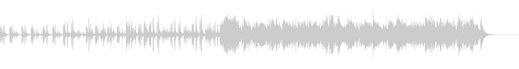 ほのぼのした雰囲気の日常BGMの未再生の波形