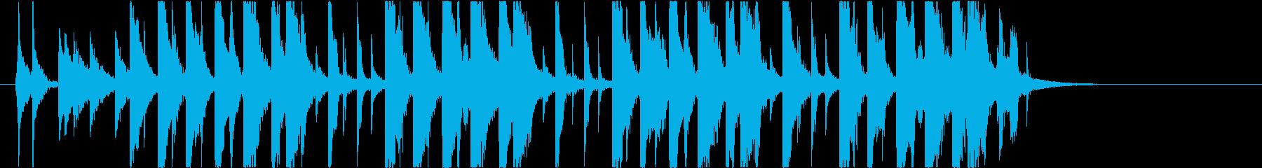 【南国効果音】ビーチサンダルの再生済みの波形