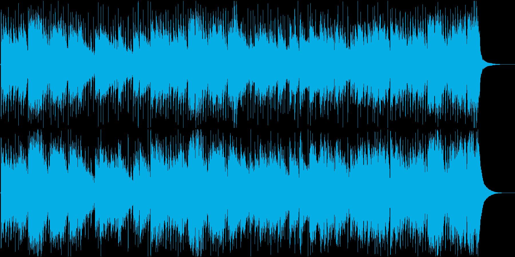 ラフな雰囲気のジャズの再生済みの波形
