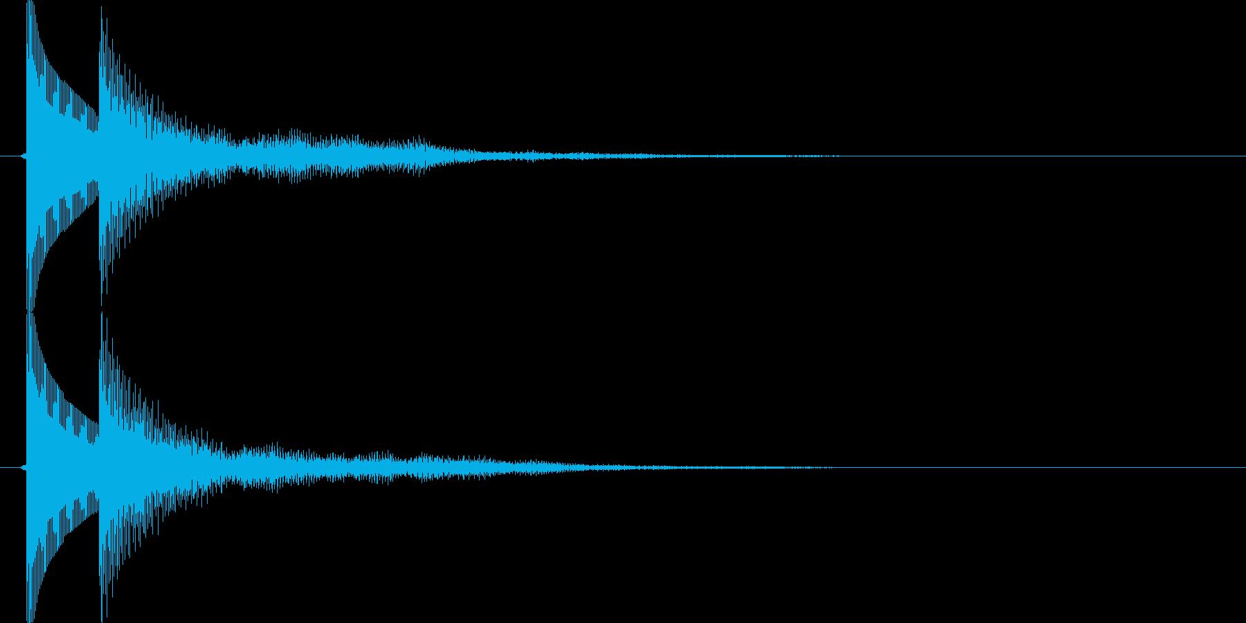 ボタンを押した時、決定する時の音の再生済みの波形