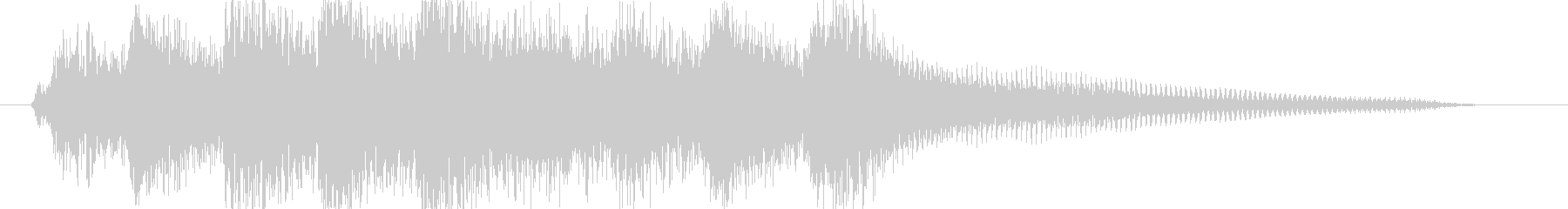 ピアノ出囃子ジングルゆったりめの未再生の波形