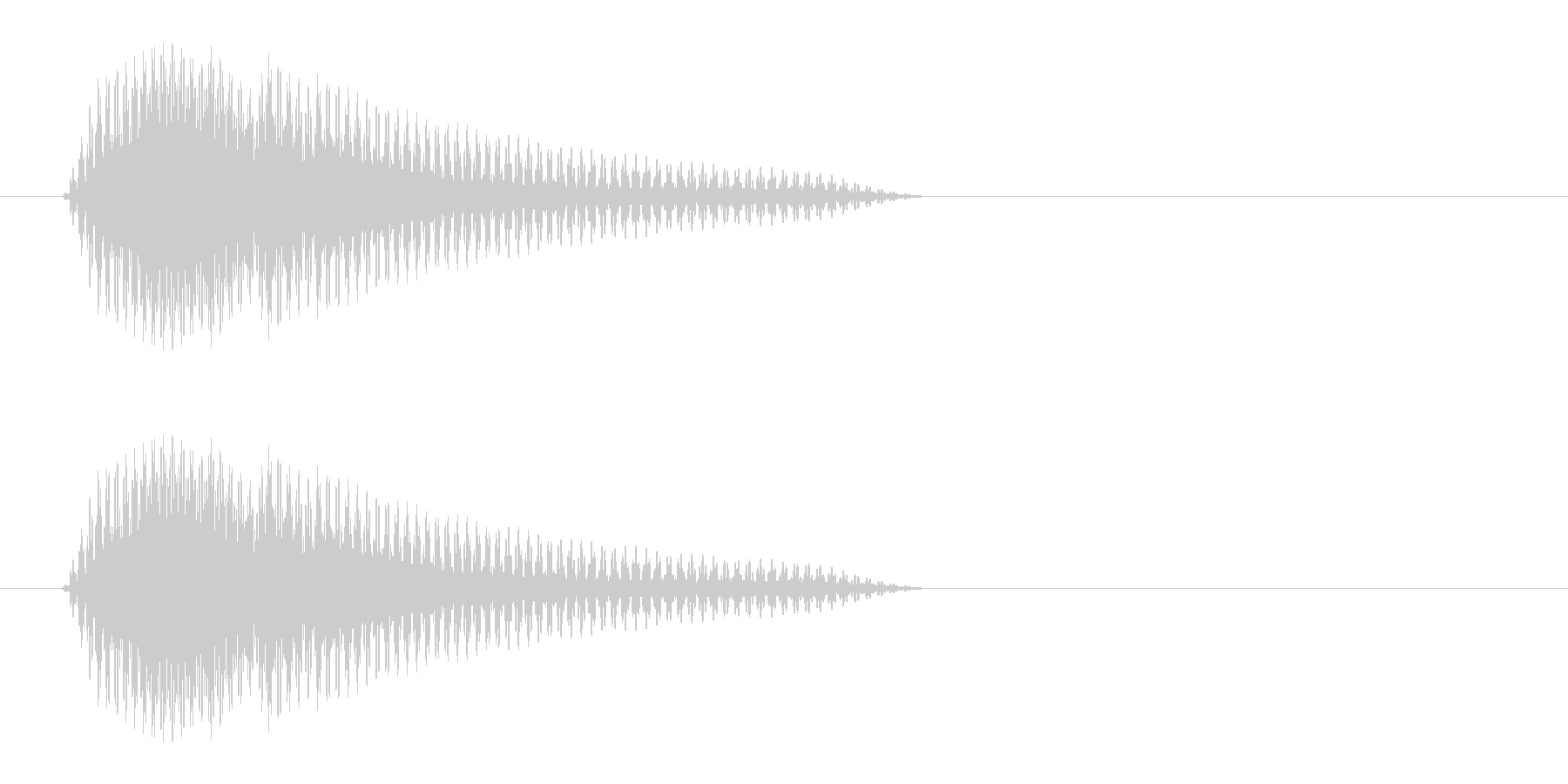 ピュン(近未来の銃の射撃音)の未再生の波形