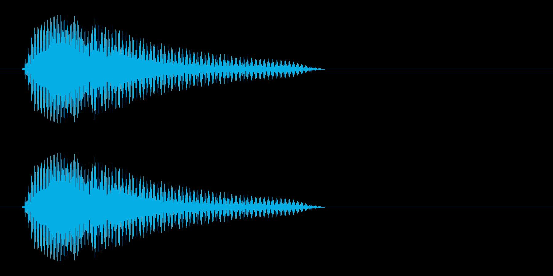 ピュン(近未来の銃の射撃音)の再生済みの波形