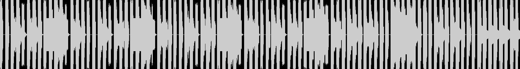 可愛い8bitループの未再生の波形