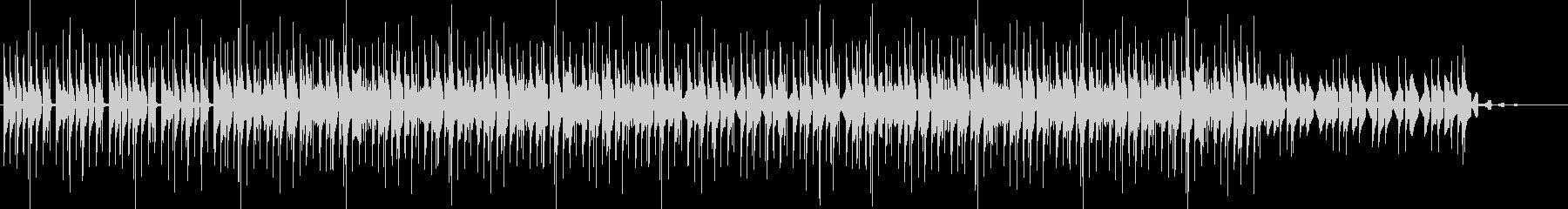 跳ねるサウンドのスタイリッシュなBGMの未再生の波形