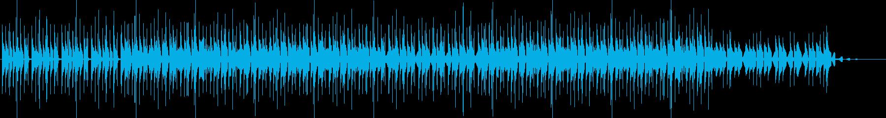 跳ねるサウンドのスタイリッシュなBGMの再生済みの波形