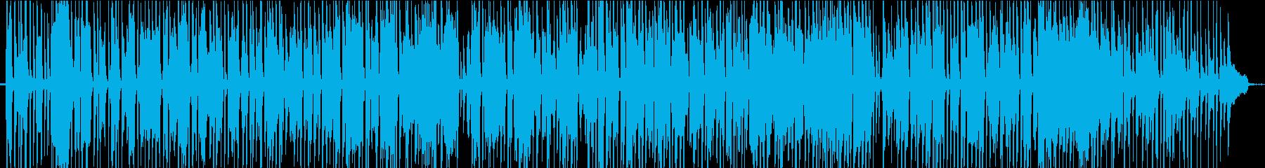 ピアノソロのジャズ風BGMの再生済みの波形