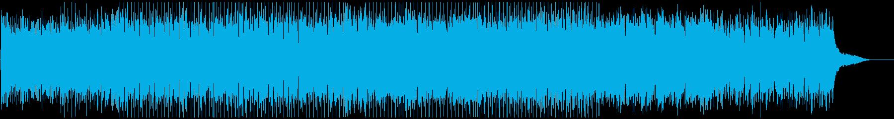 ハッピーでポジティブな曲/ピアノとアコギの再生済みの波形