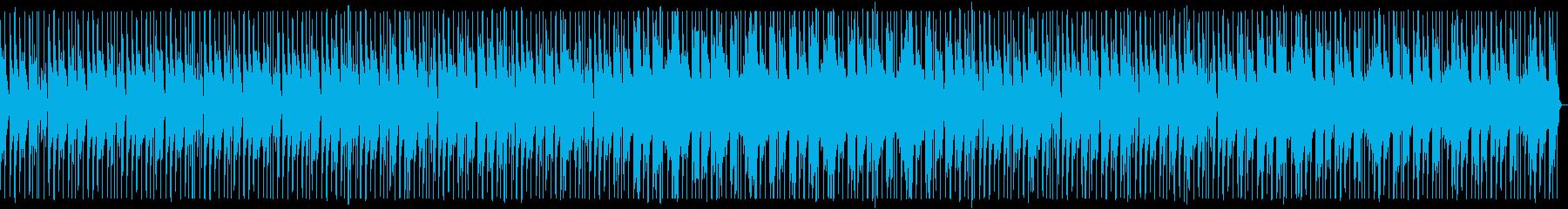 オシャレなピアノメインダンスミュージックの再生済みの波形
