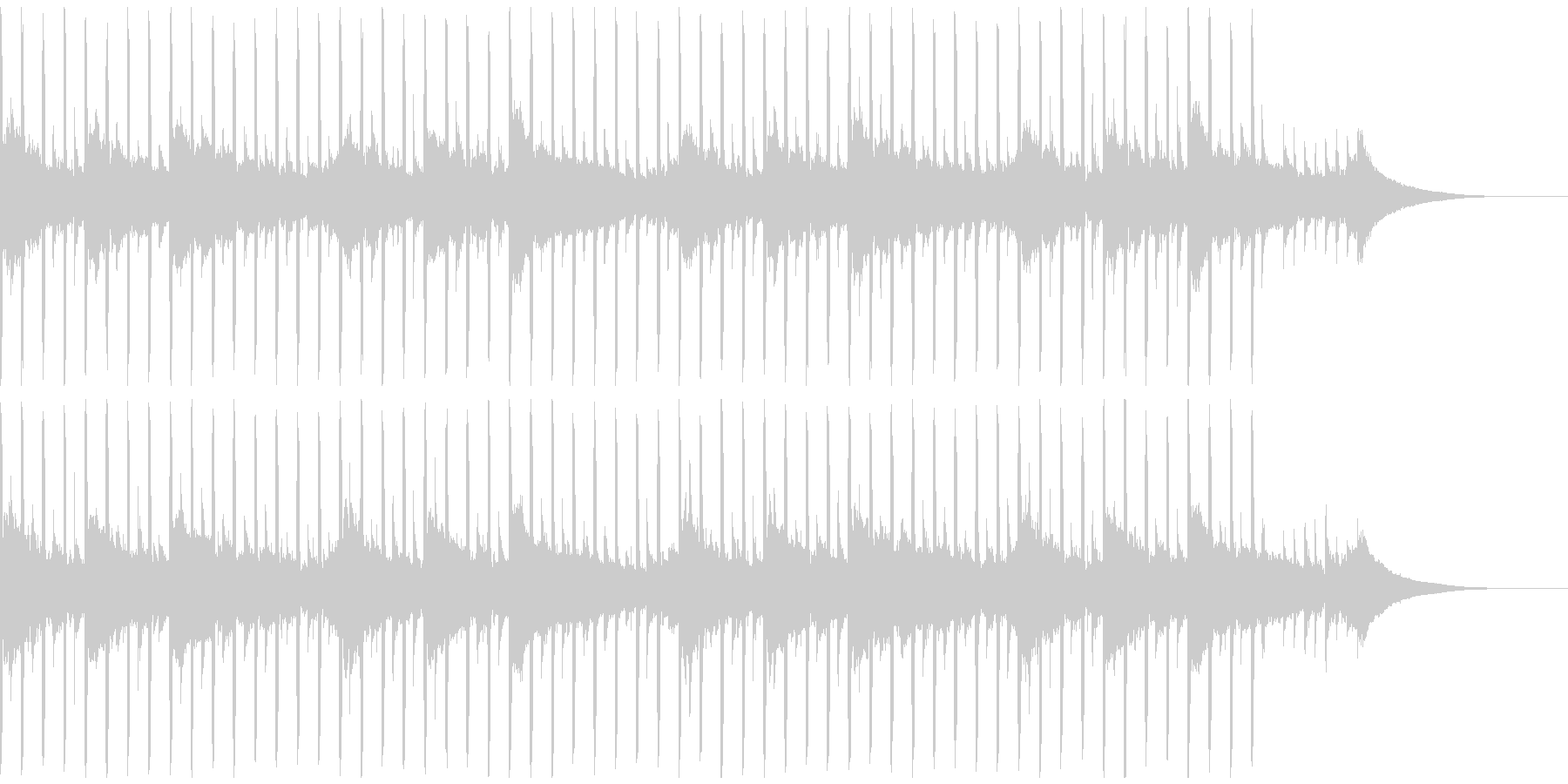 動機付けインタビュー(40秒)の未再生の波形