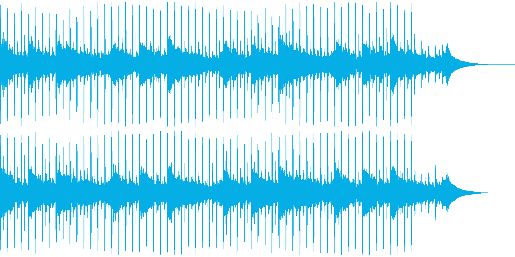 動機付けインタビュー(40秒)の再生済みの波形