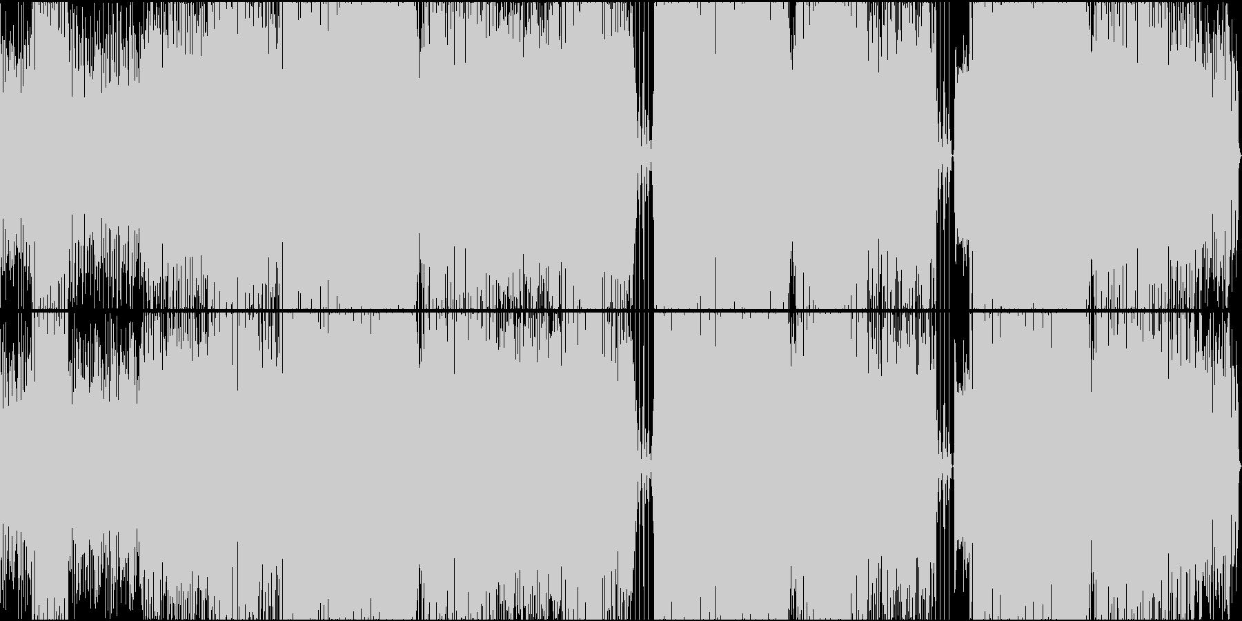 オシャレAORの未再生の波形